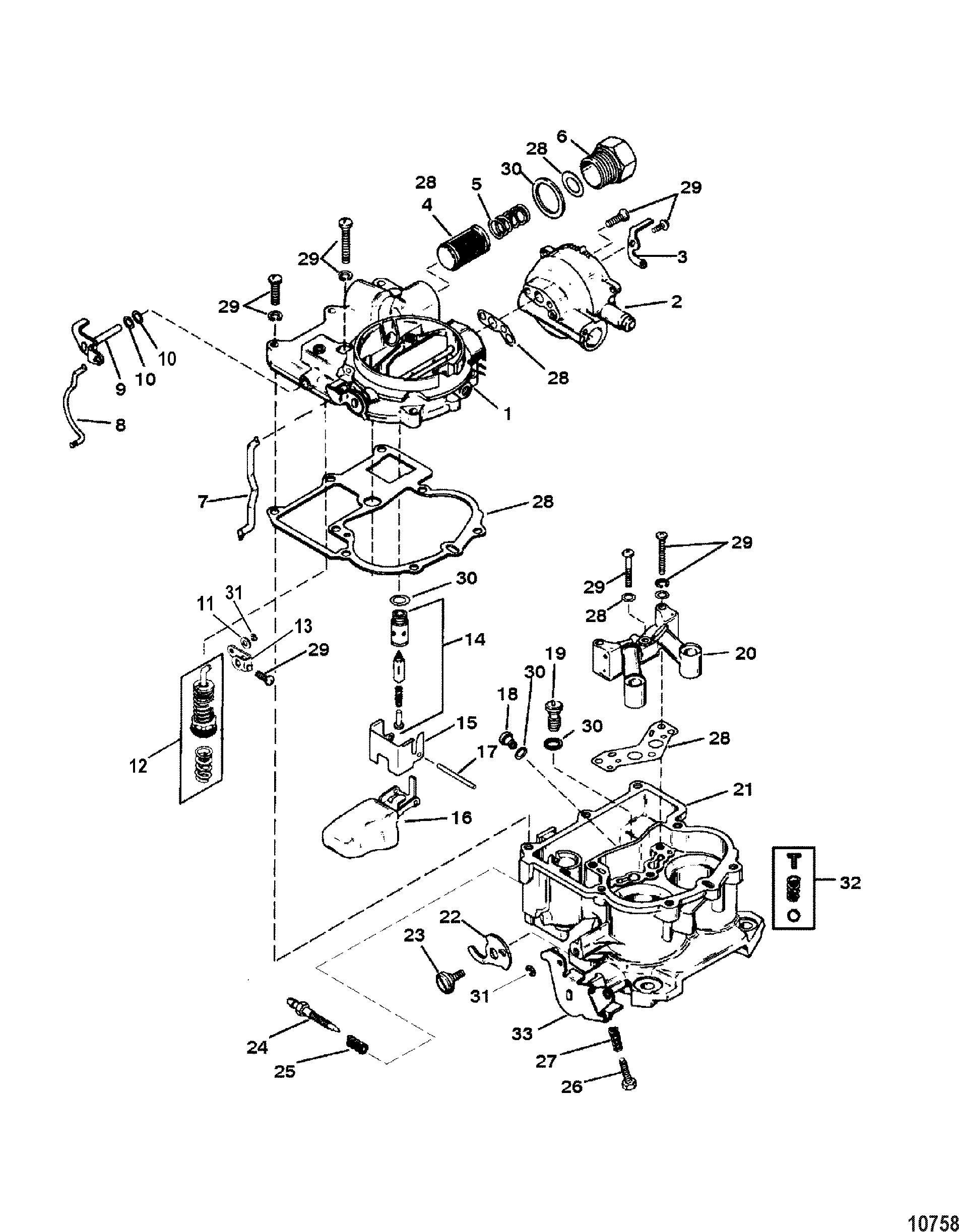 carburetor mercarb for mercruiser 5 0l    5 7l sterndrive