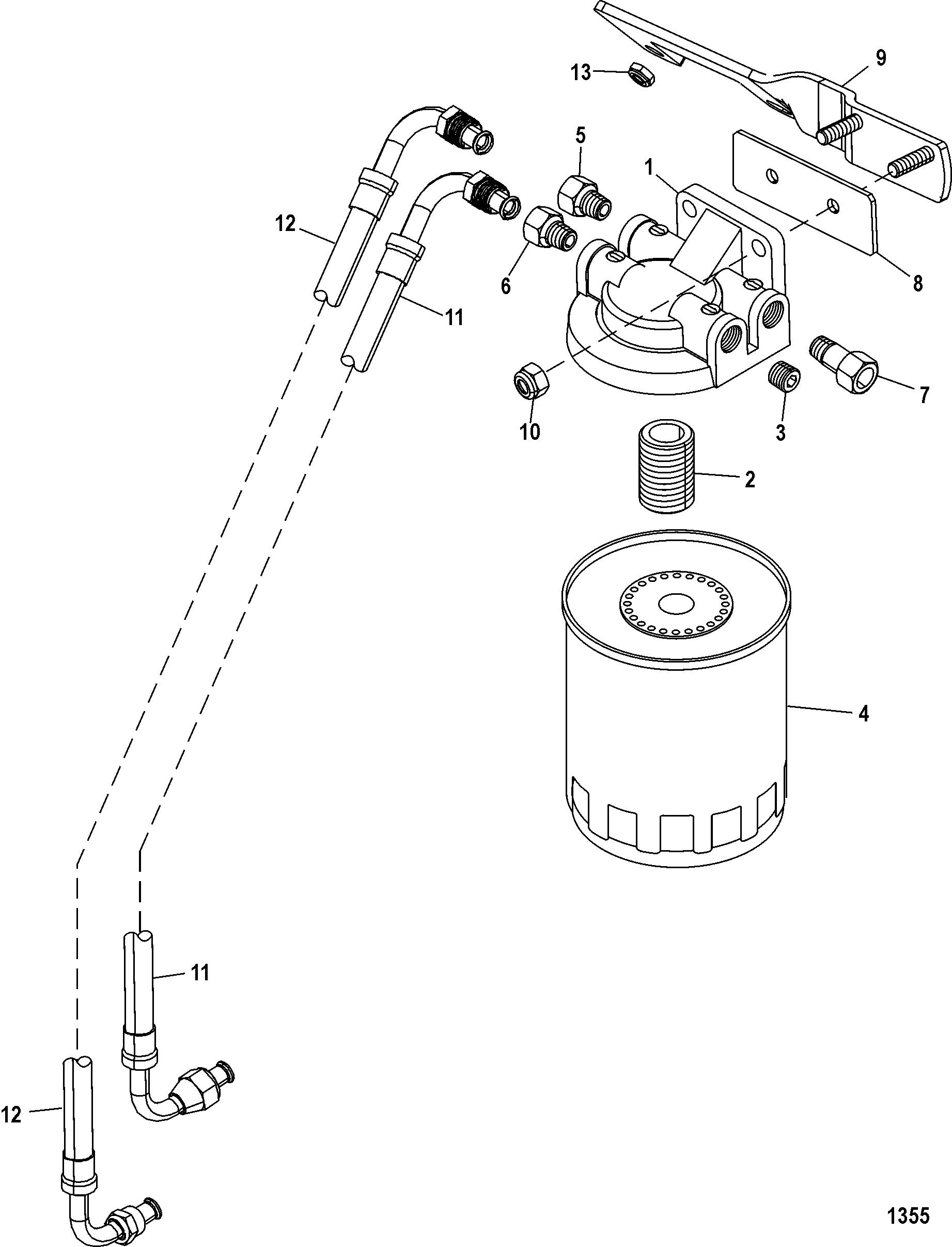 fuel filter alpha for mercruiser 5 0l 350 mag mx 6 2l mpi