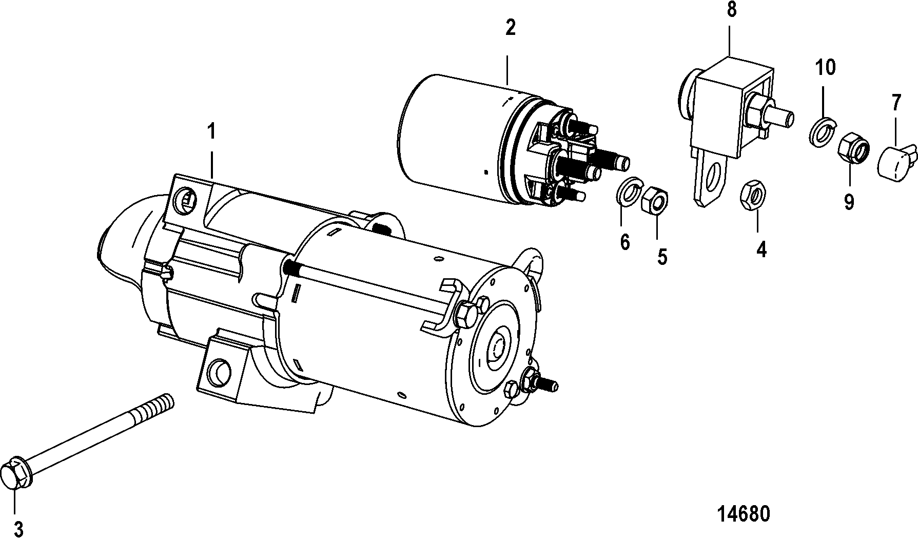 starter motor for mercruiser 5.0l/5.7l alpha/bravo gen+ 05 bmw 7 series starter wiring diagram #15