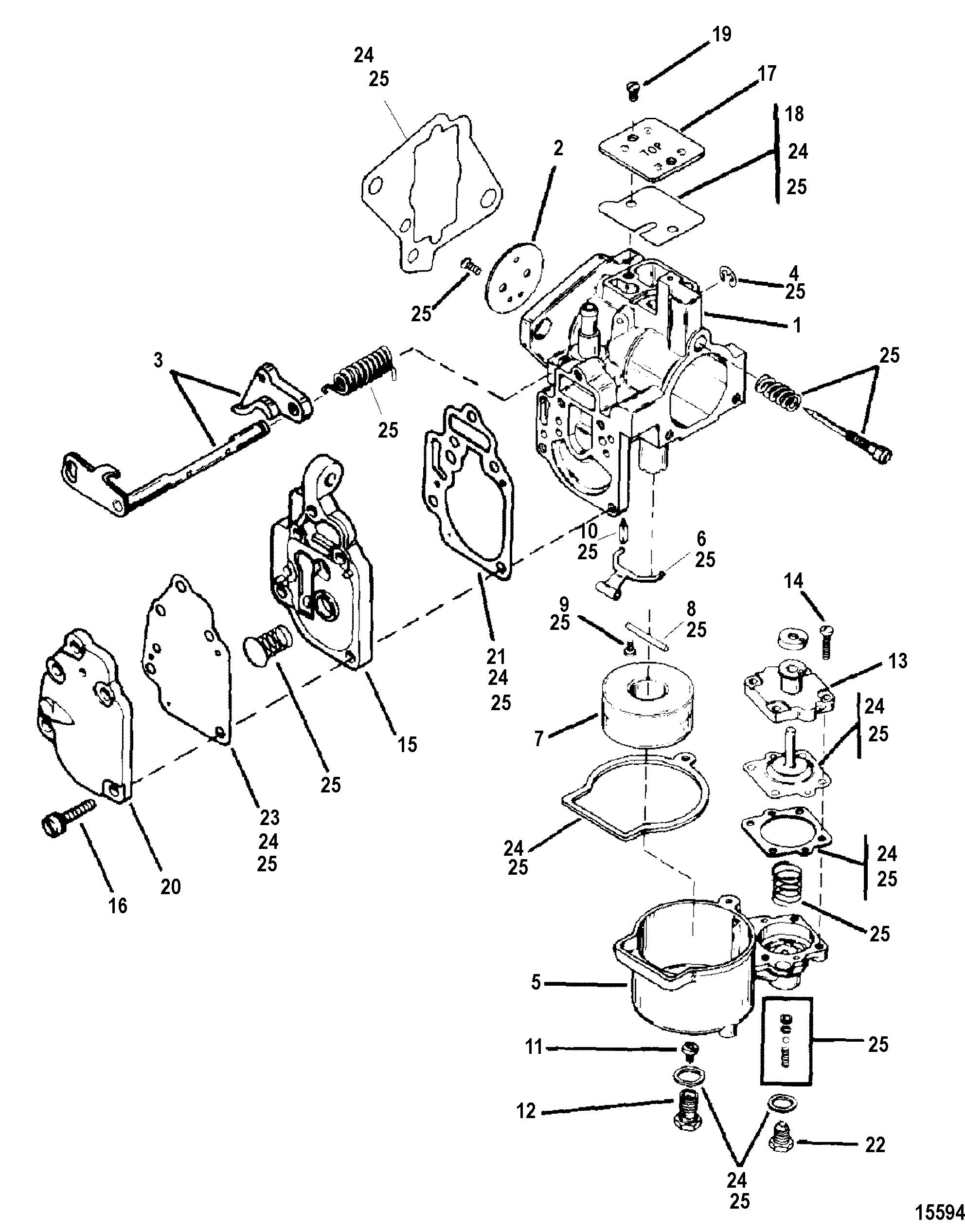 Carburetor Assembly For Mariner Mercury 8 9 9 13 5 15 2