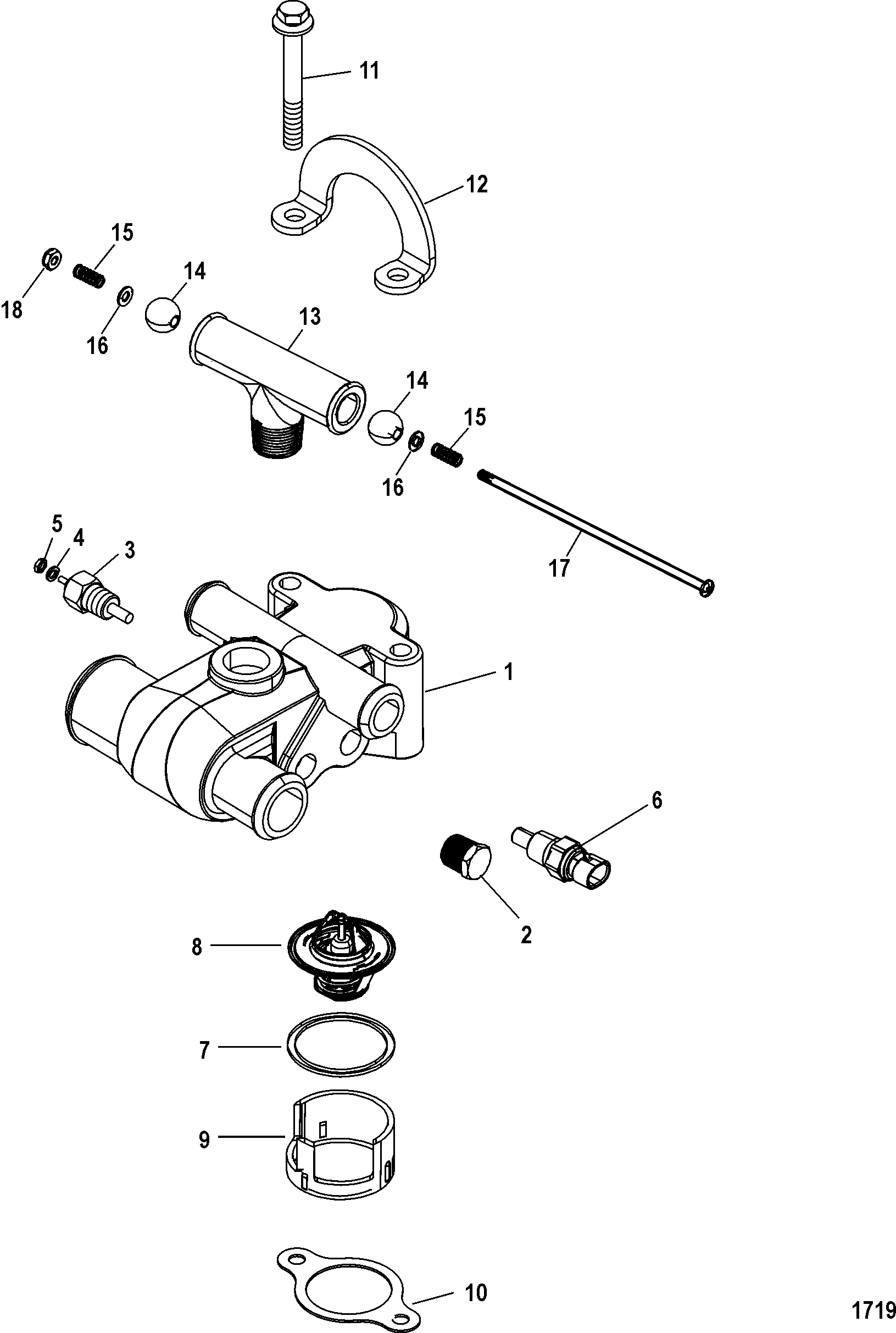 mercruiser 4 3l belt diagram