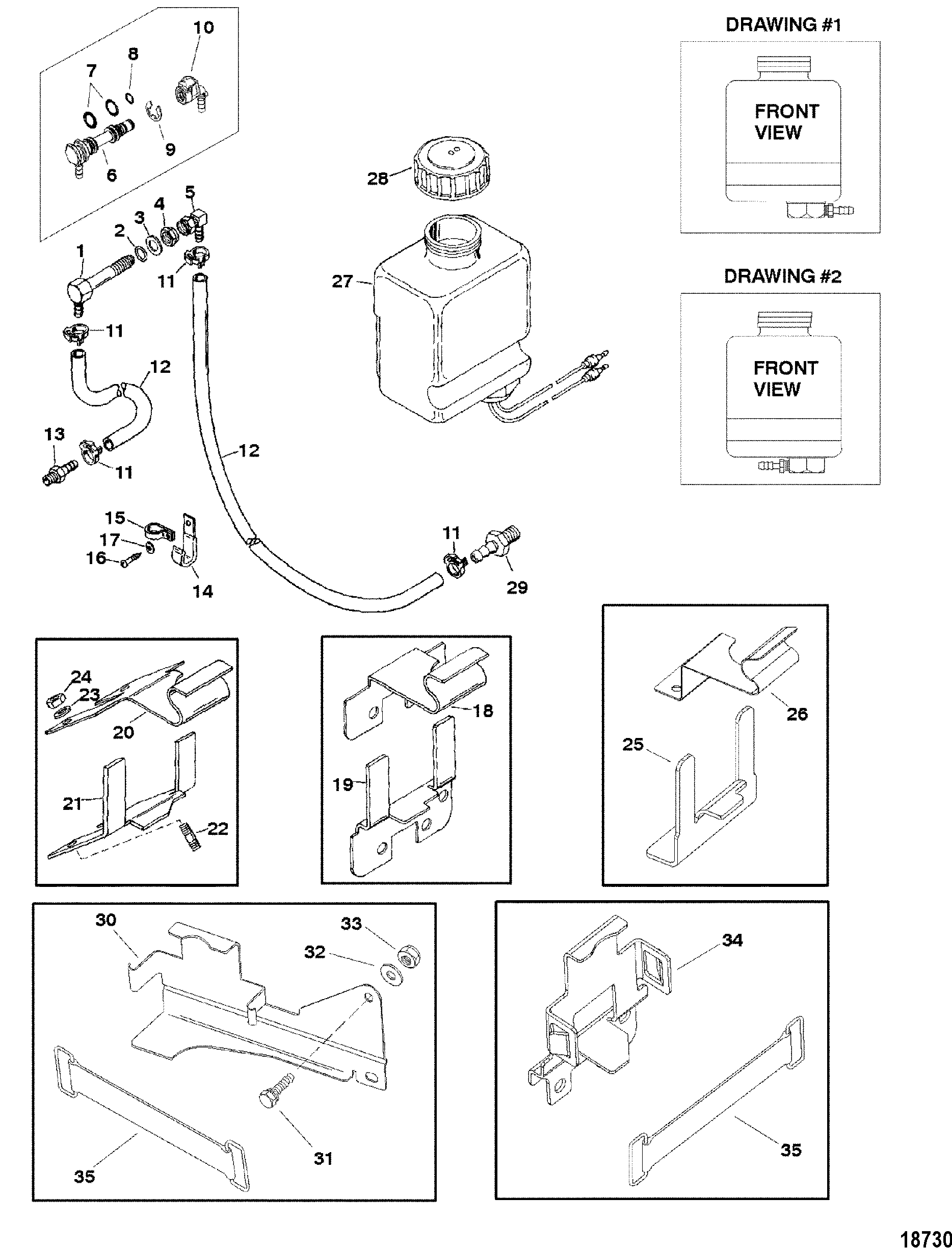 mercruiser bravo iii outdrive diagram