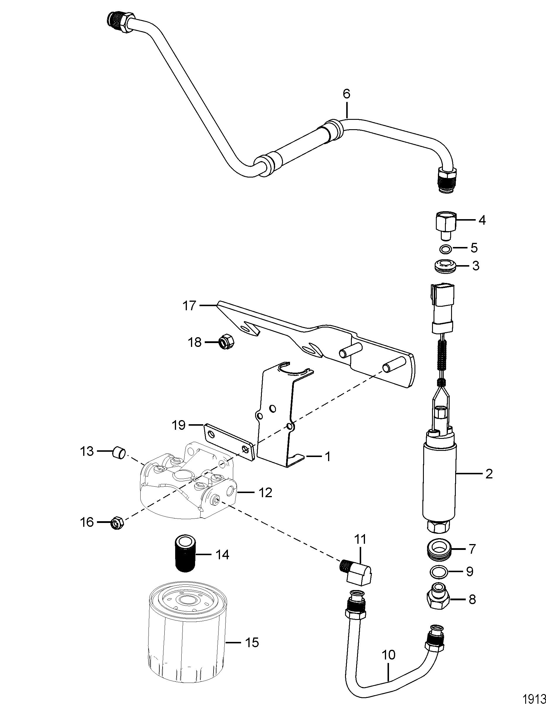 fuel filter and fuel pump for mercruiser 5 0l    5 7l