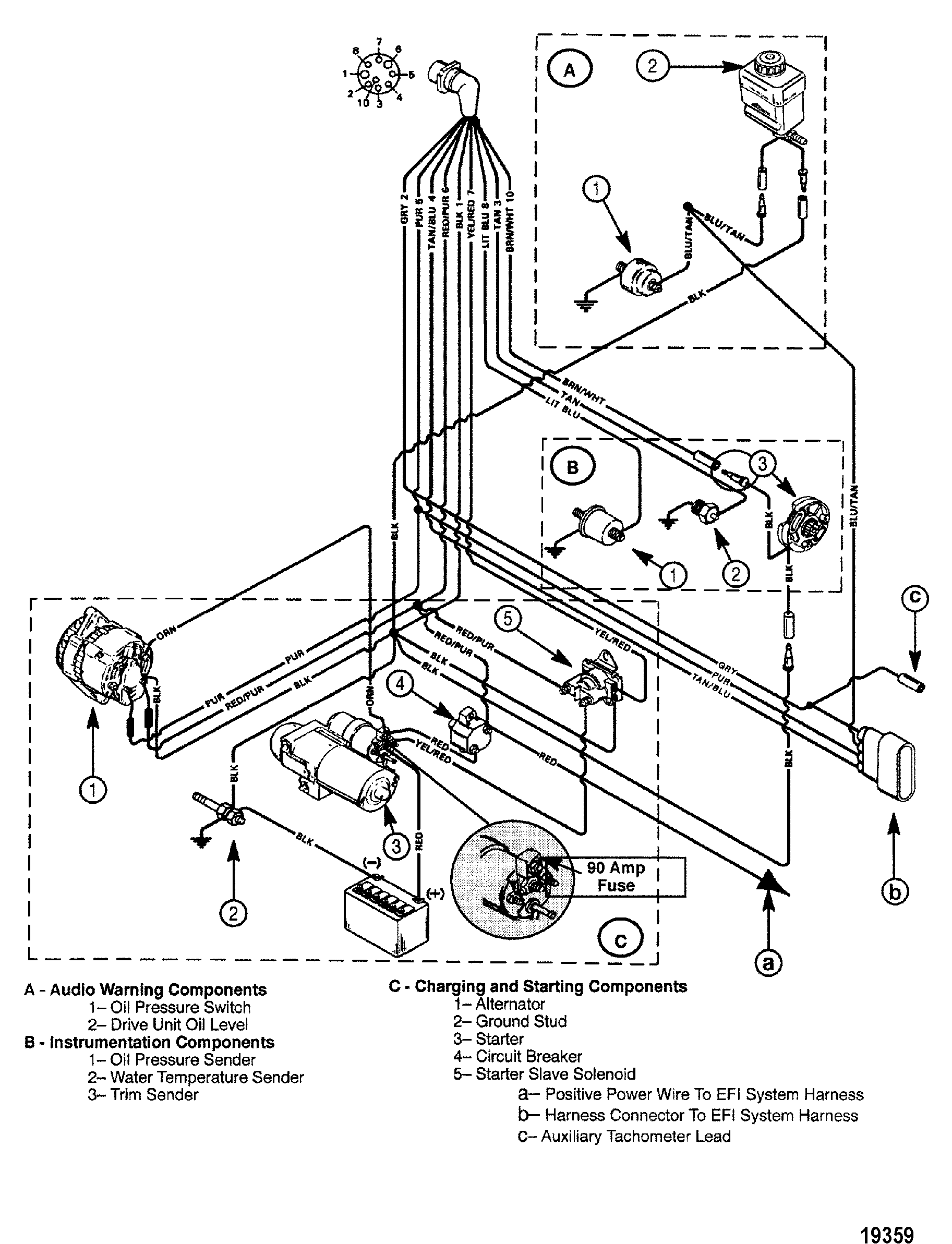 5 7 mercruiser engine wiring harness diagram
