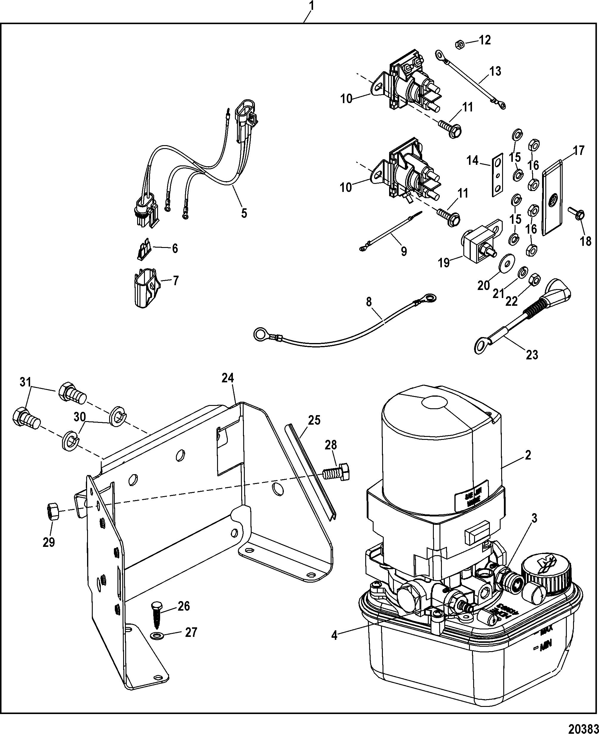 Trim Pump Assembly For Mercruiser 4 3l Mpi Alpha  Bravo Ec