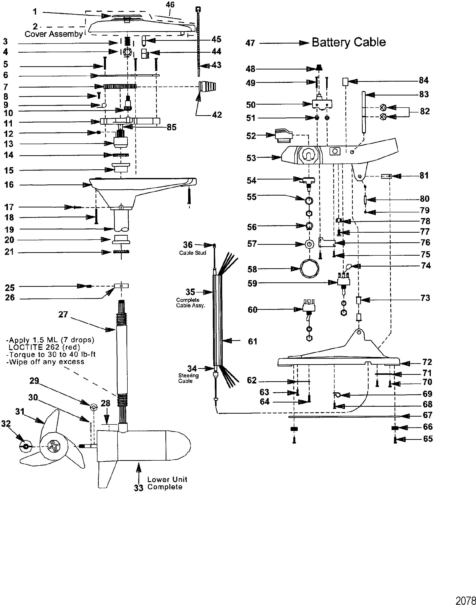 complete trolling motor model 743 12 volt for motorguide motorguide 700 series