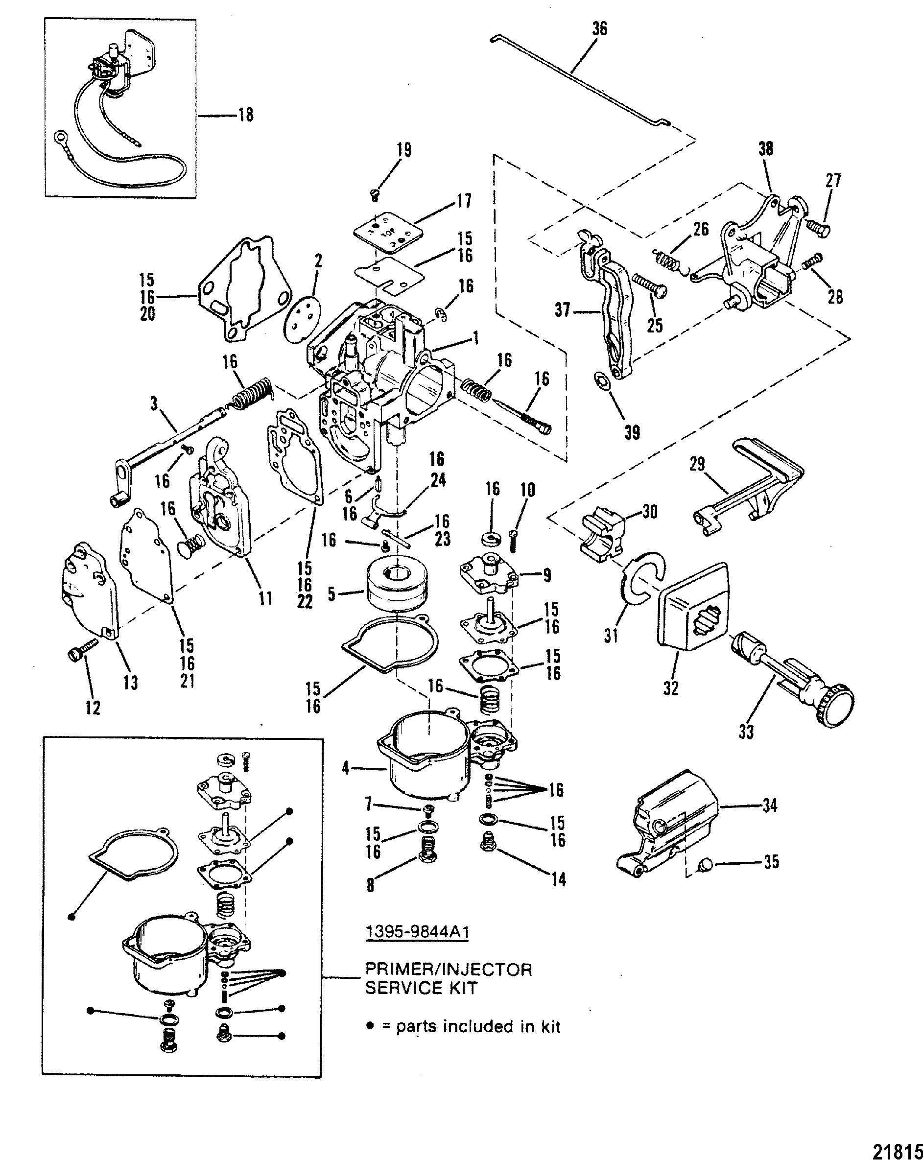 carburetor 20 for mariner    mercury 20 h p   25 h p  sea