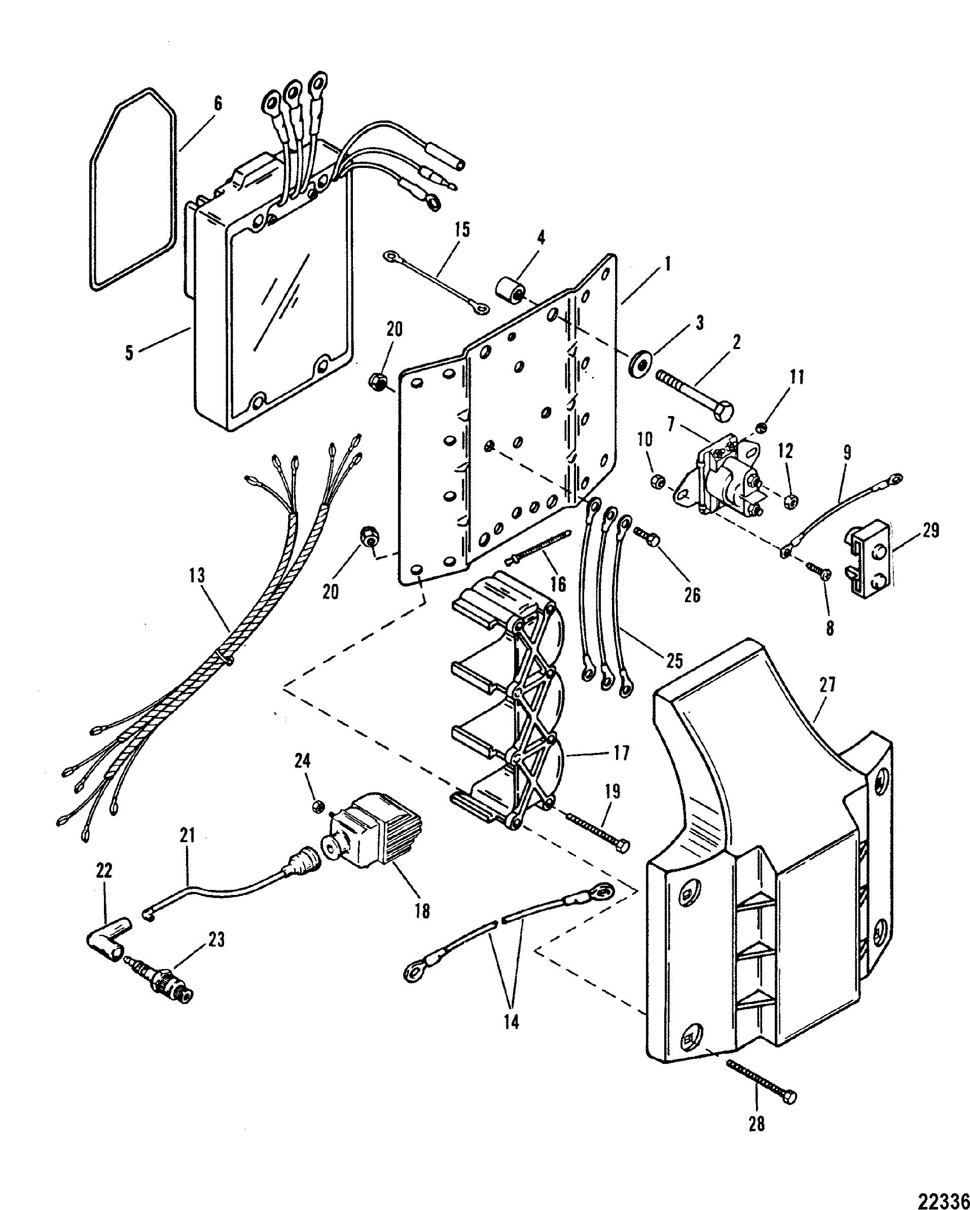 ignition coil voltage regulator for mariner mercury 175. Black Bedroom Furniture Sets. Home Design Ideas