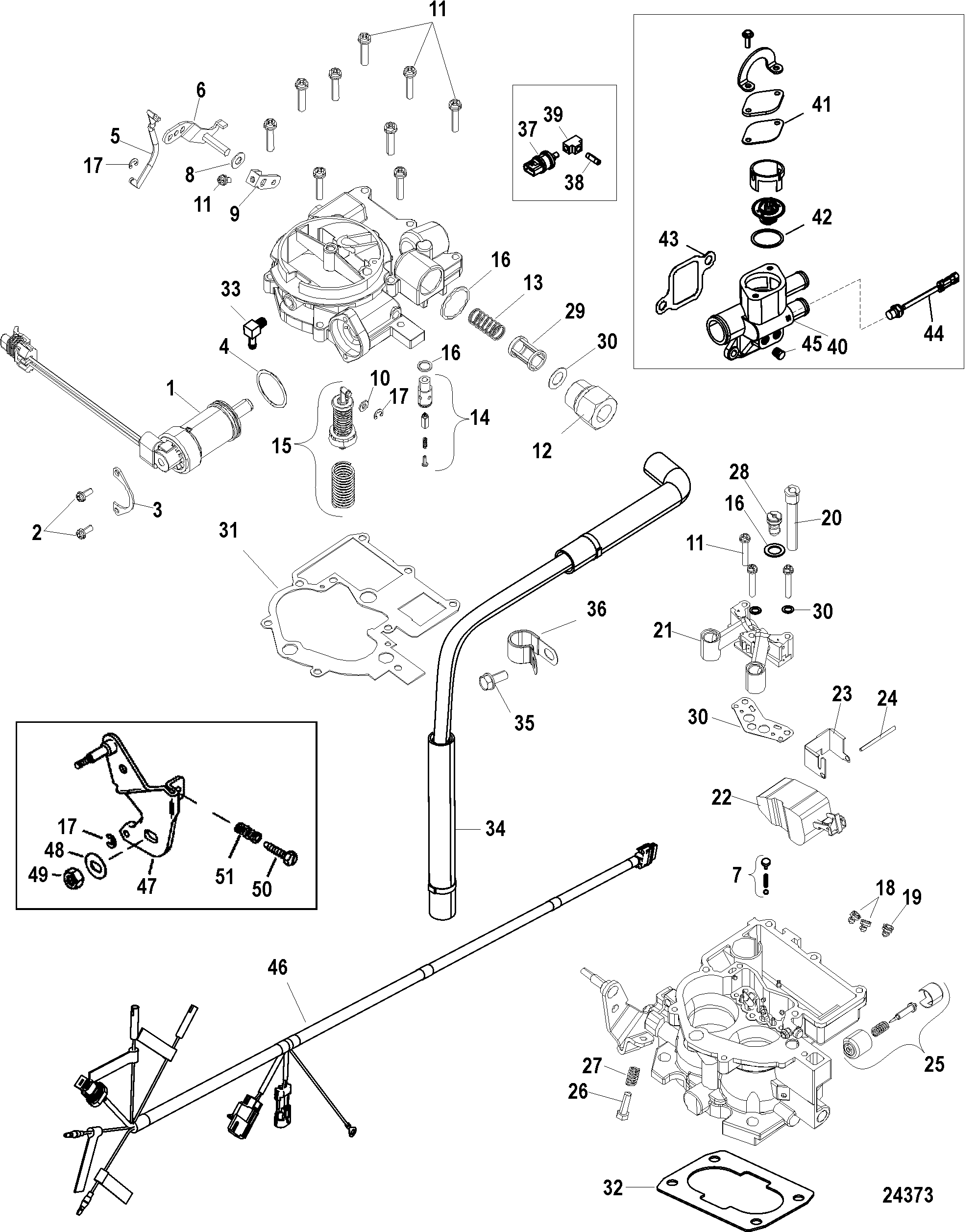 3 0 Mercruiser Wiring Diagram Diagrams Mercury 140 Hp Outboard Engine Parts On Images 25