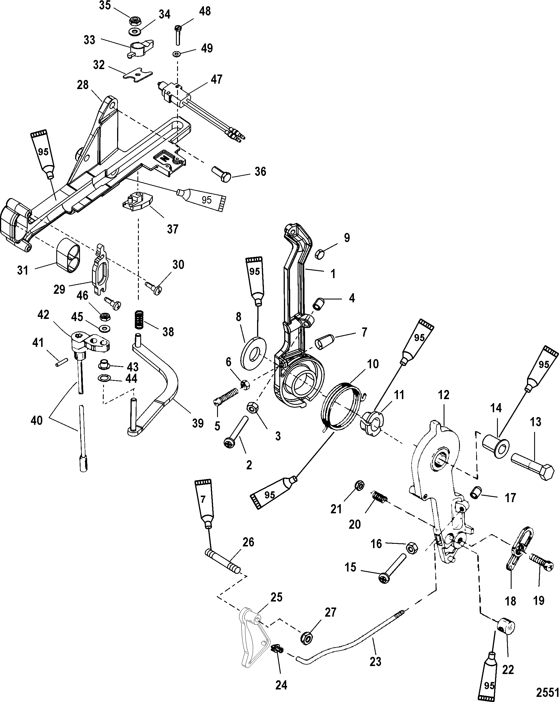 2551 Quicksilver Throttle Lever Wiring Diagram on