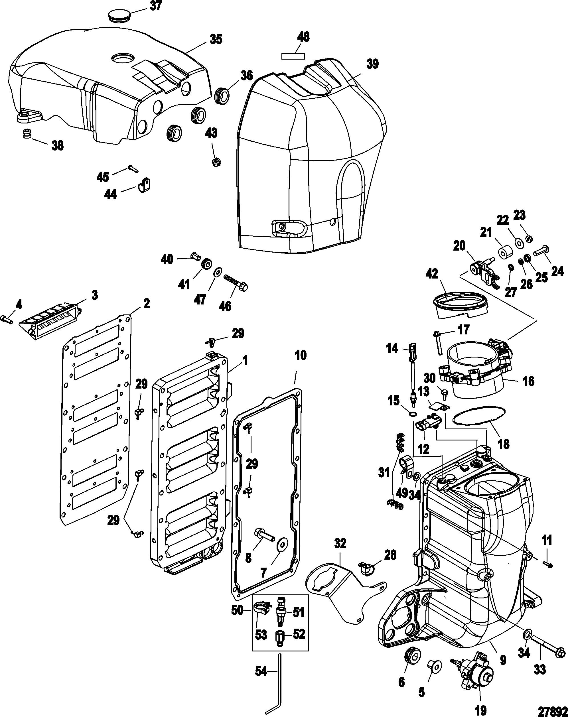 1976 Mercury Tachometer Wiring Diagram as well 8 Hp Yamaha Outboard Wiring Diagram further 2wktz Force Nnn Nnn Nnnn It Will Not Start No Spark additionally Mercruiser Fuel Filter Separator likewise Integrated Air Fuel Module. on optimax engine diagram