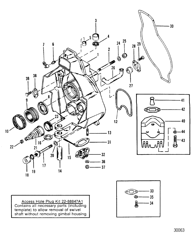 gimbal housing square  square upper swivel shaft for
