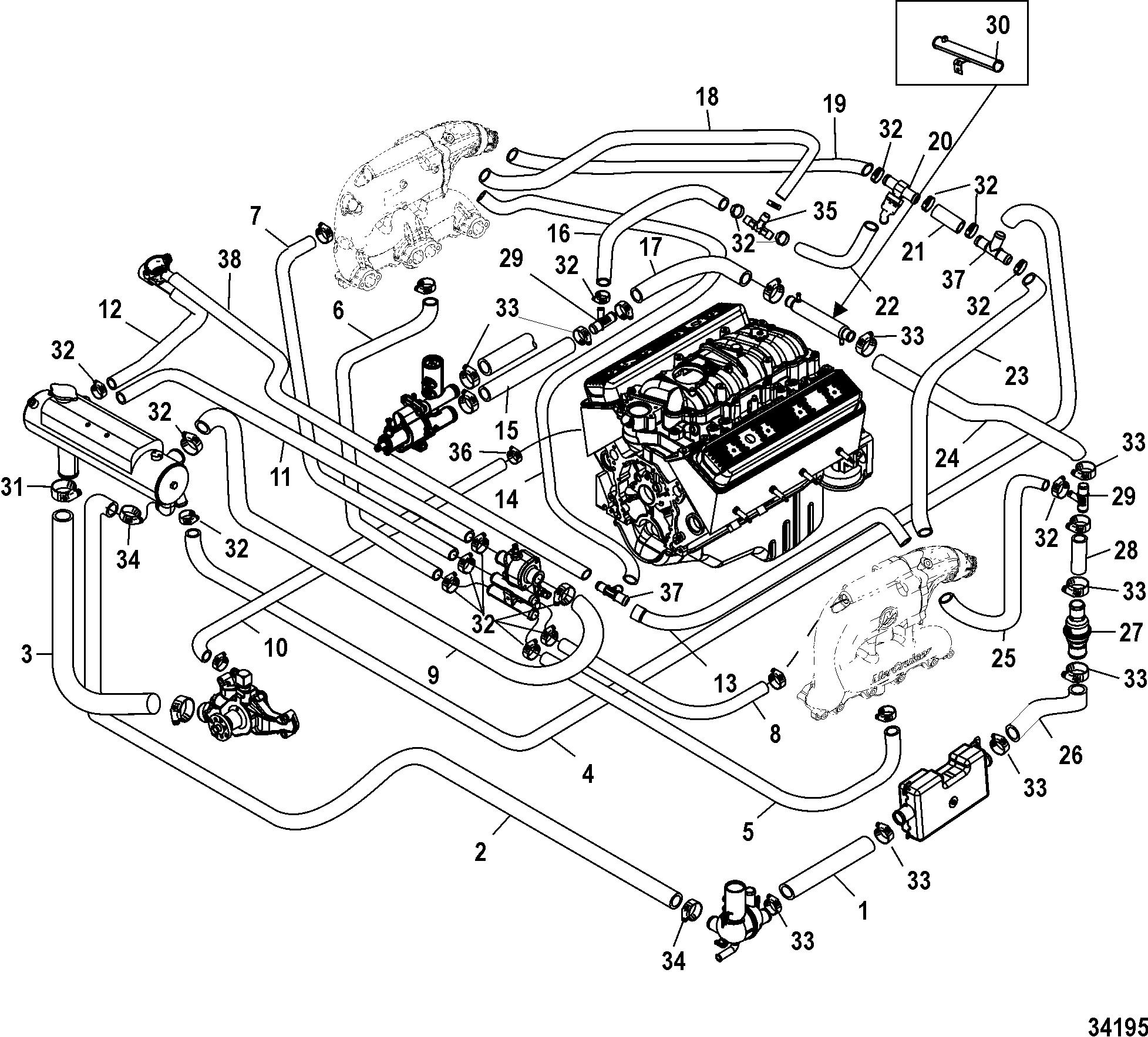 Mercruiser 5 0 Cooling System Diagram Free Wiring For You 2zz Ge Pinout Wire Harness 140 Engine Alpha One 50