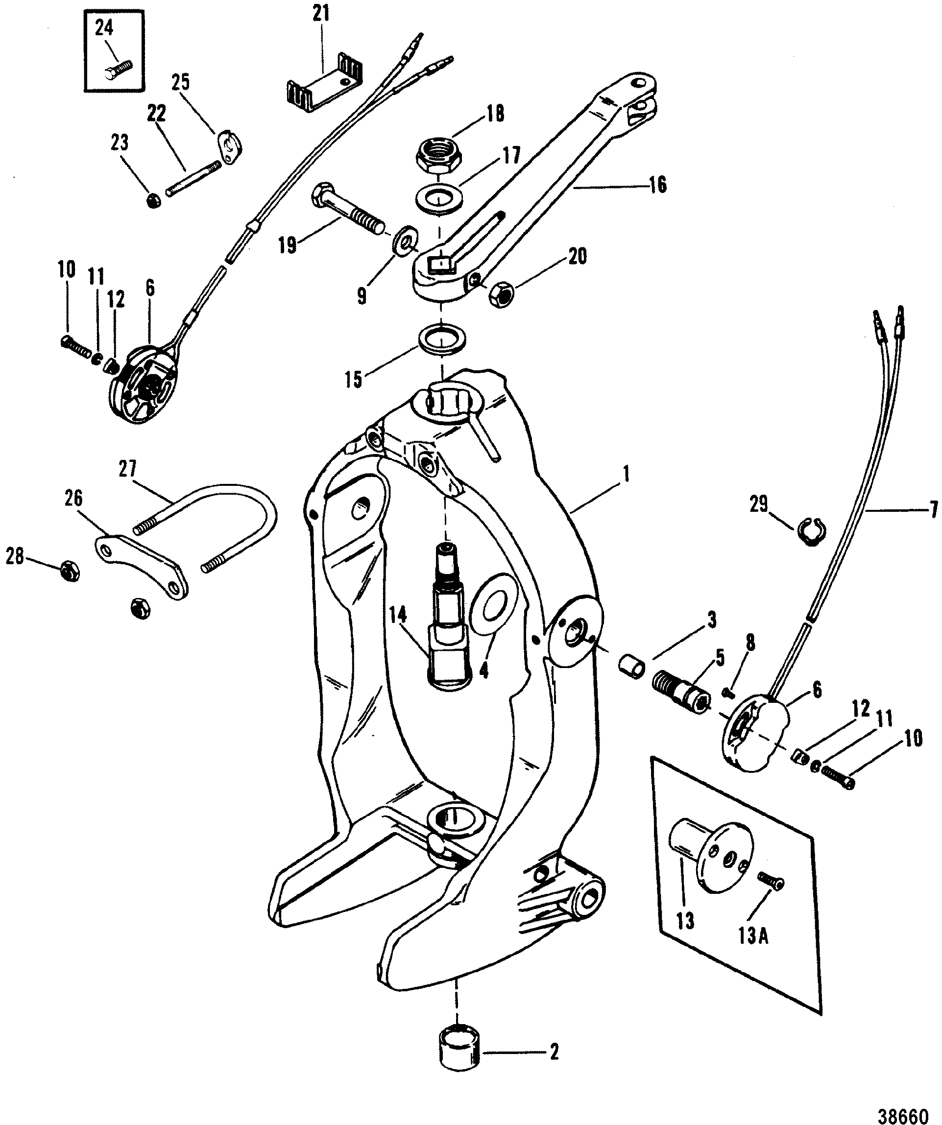 Bp AP AssemblyDetail moreover Johnson Evinrude Parts also Outboard Motor Lower Unit Diagram besides Throttle Linkage Electric Remote Control together with Show product. on mercury outboard parts diagram