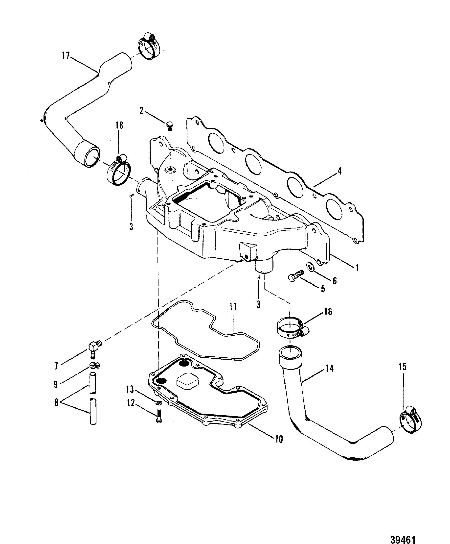 intake manifold 180 190 3 7l lx for mercruiser 165 hp 3
