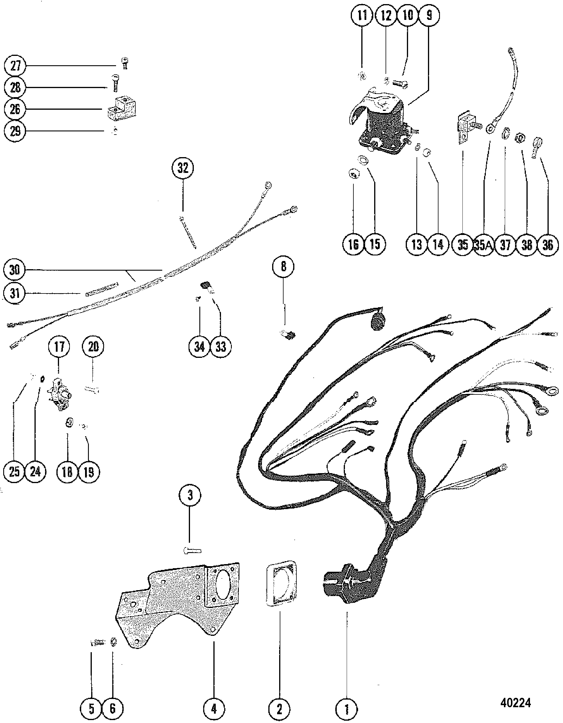 engine wiring harness mercruiser 140 1979 get free image about wiring diagram