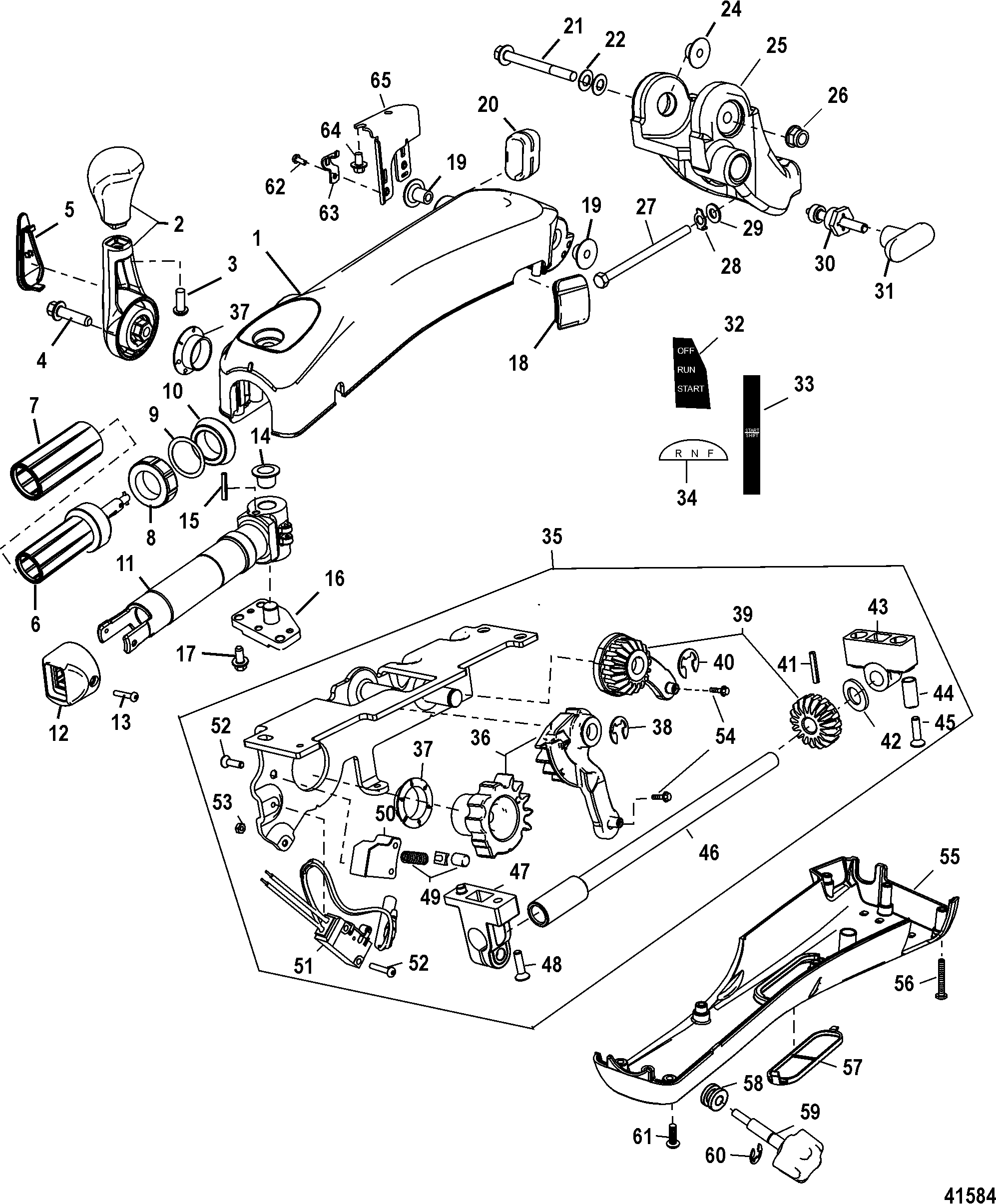 Fourstroke Yamaha Tiller Handle Trim Switch