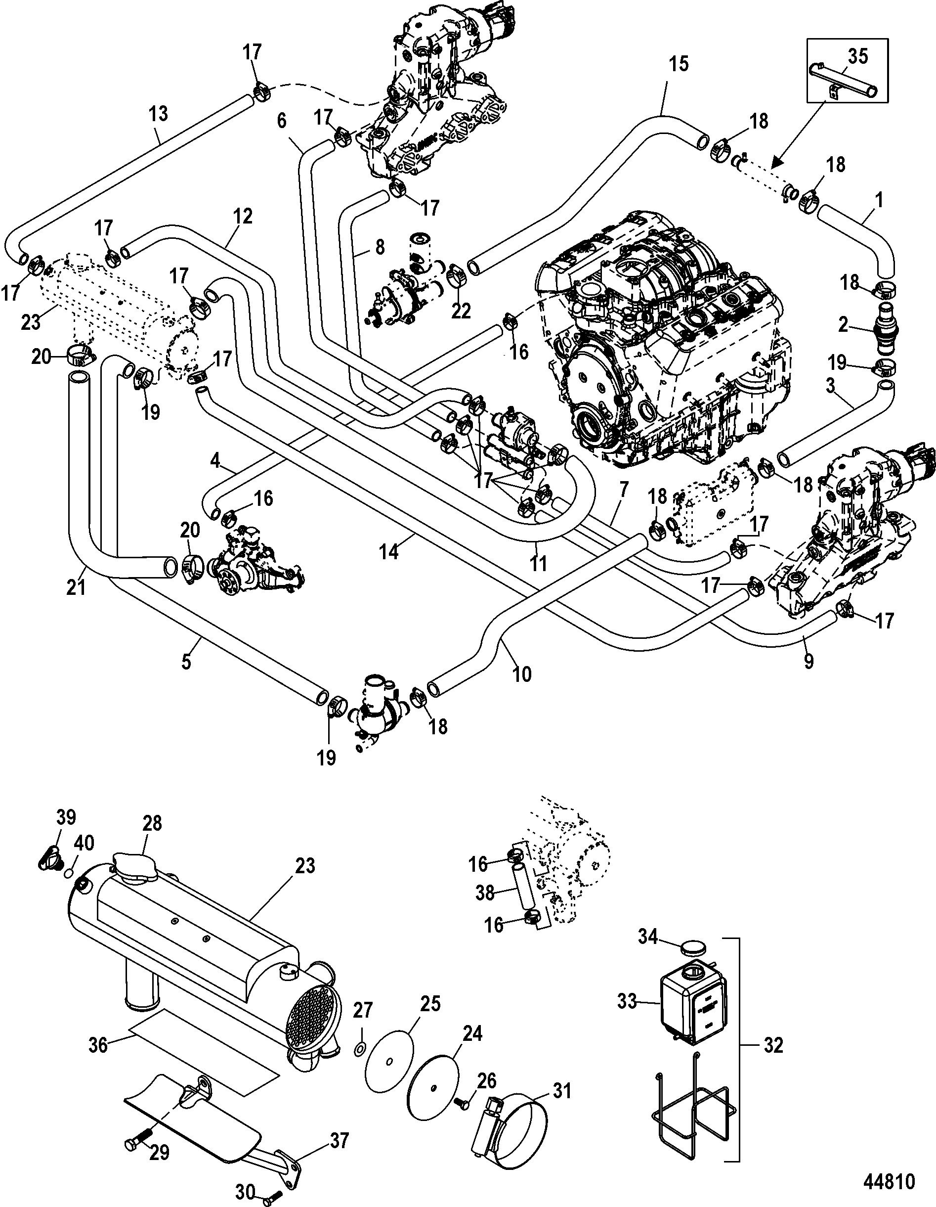 mercruiser 4 3l engine diagram 5 0 mercruiser parts