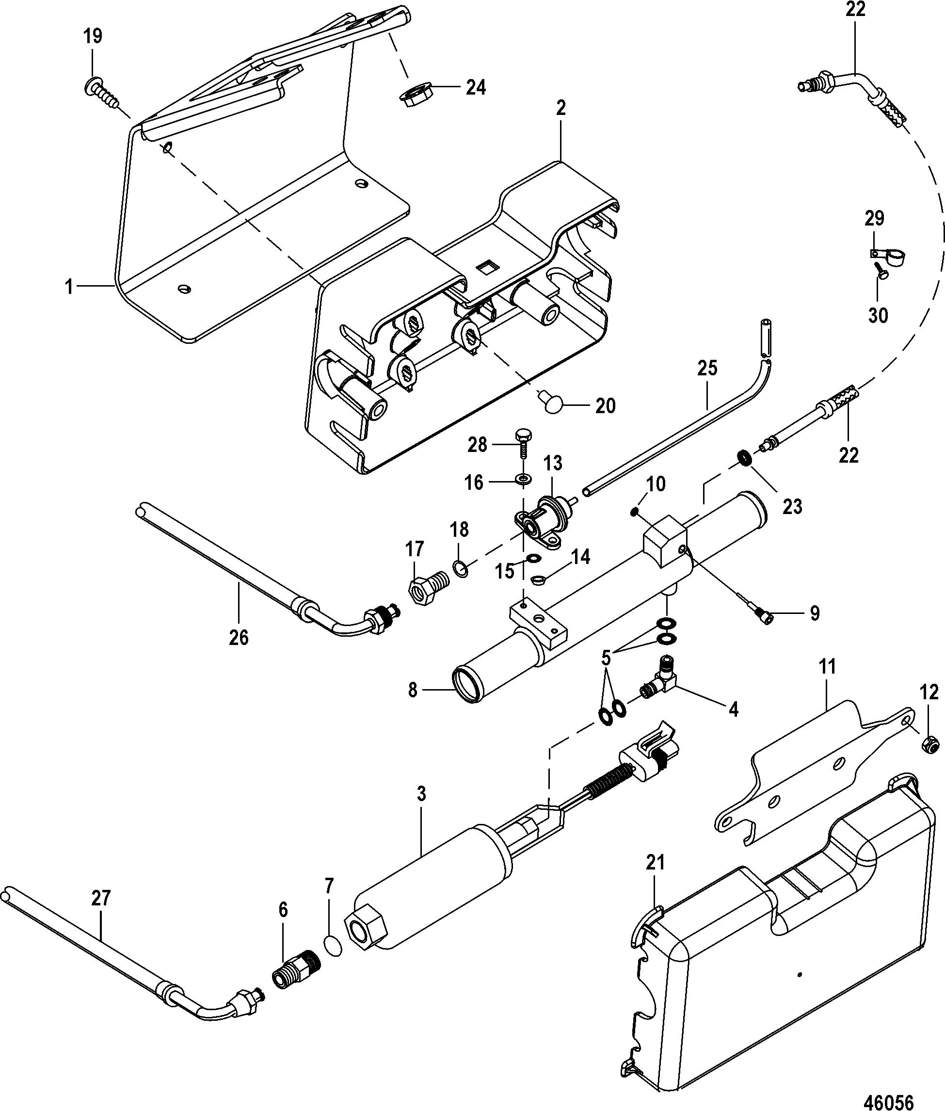 fuel pump and fuel cooler for mercruiser 4 3l mpi alpha  bravo ec