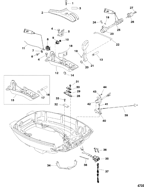 Throttle  Shift Linkage Handle Models For Mariner    Mercury