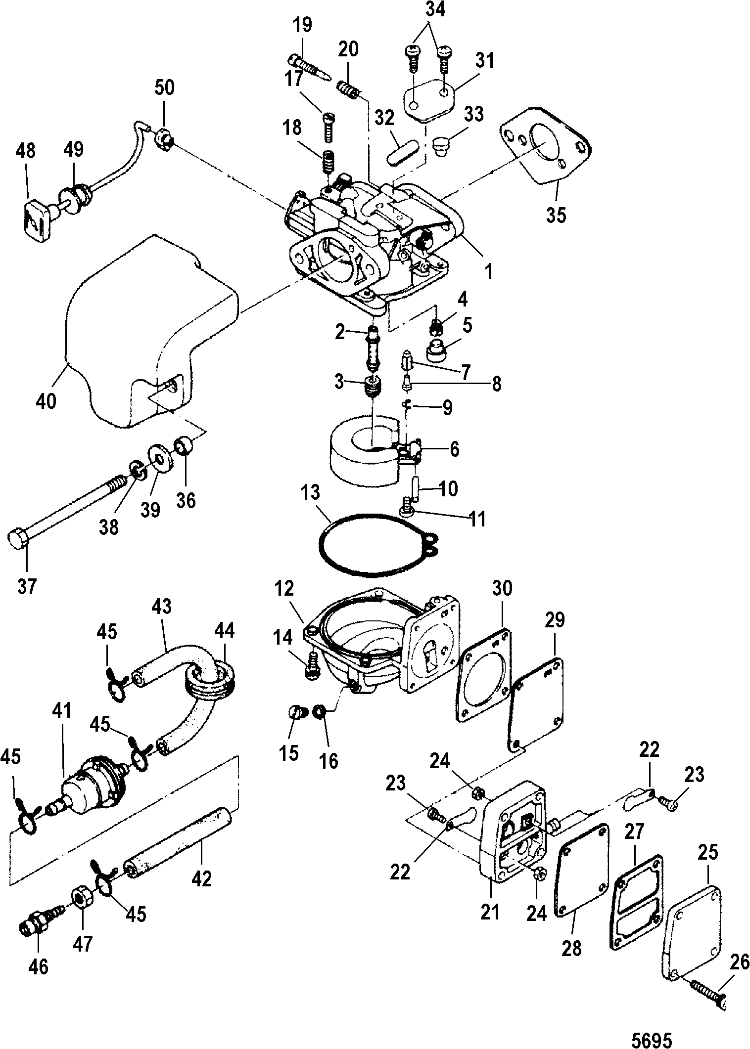 2003 25 hp mercury carburetor