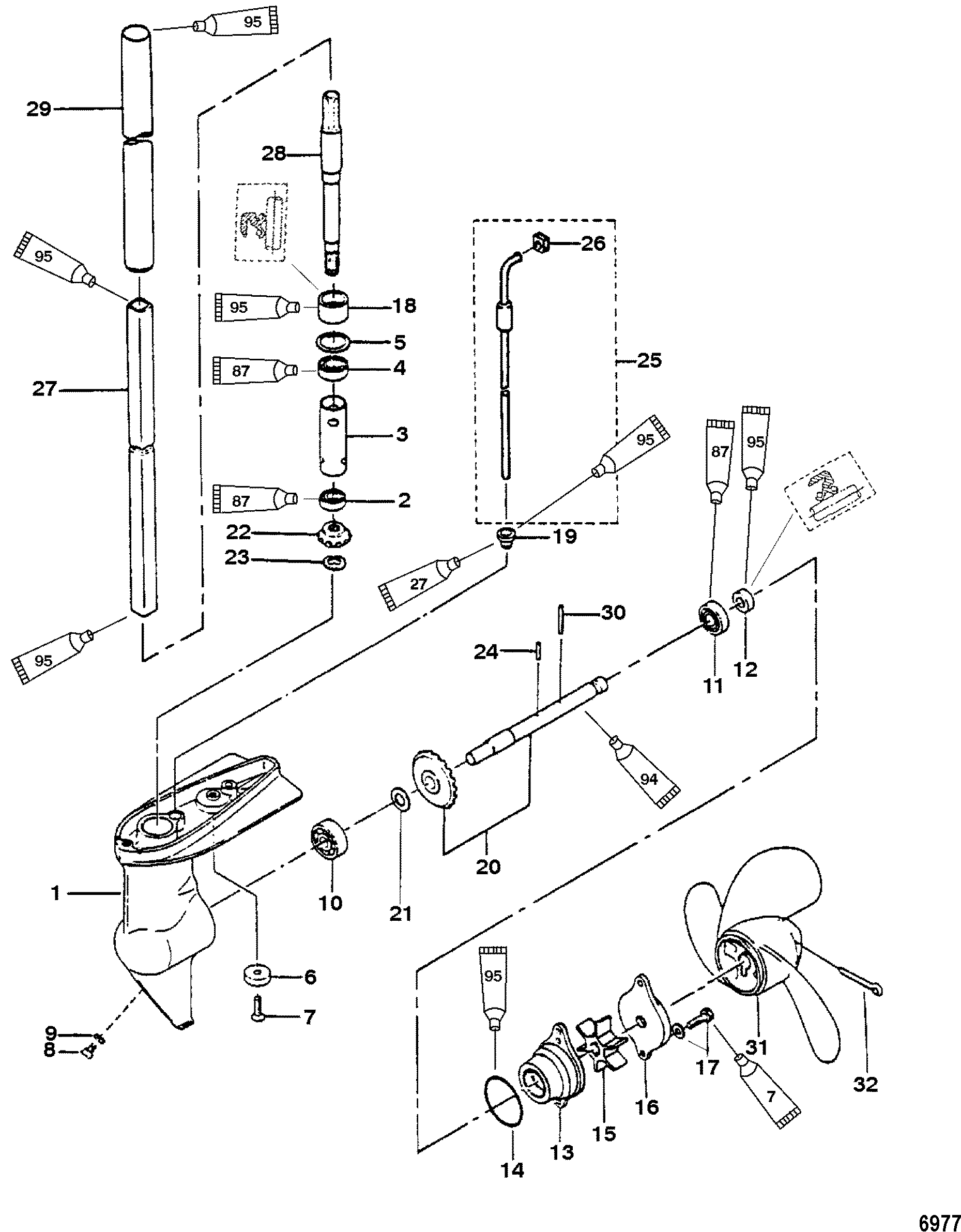 mercury motherboard wiring diagram gear housing assembly, 2/2.5 horsepower for mariner ... hp desktop motherboard wiring diagram