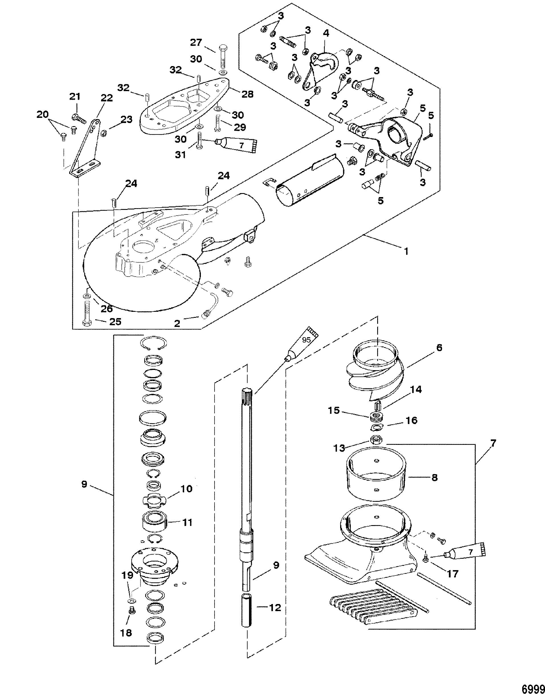 Jet Pump Assembly For Mariner Mercury 40 50 Jet 30 3