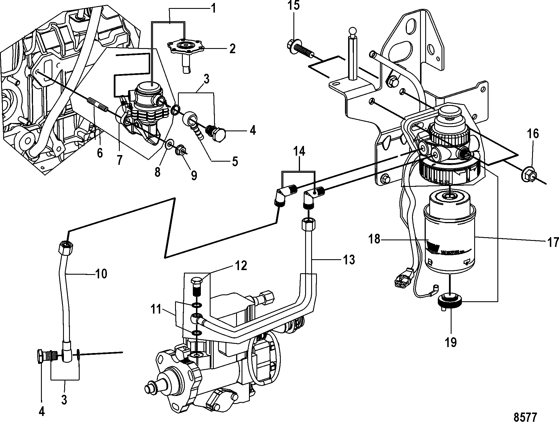 Show product on mercruiser 4 3 electric fuel pump wiring diagram