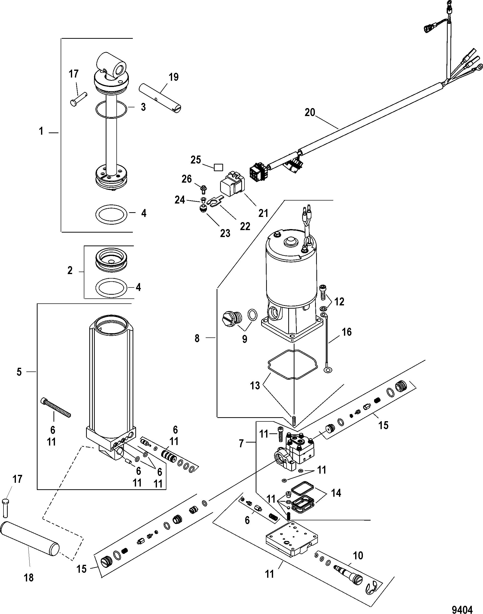 Power Trim For Mariner Mercury 30 40 Efi 4 Stroke 3 Cylinder