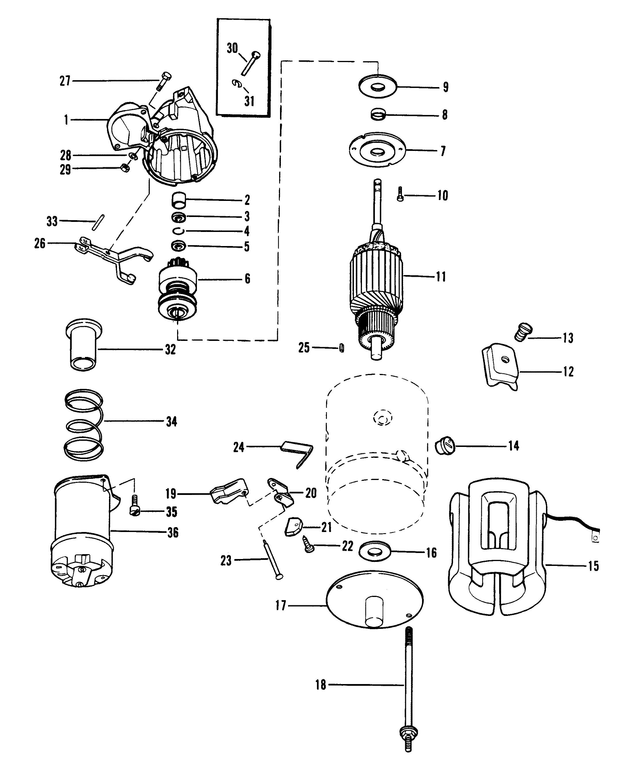 starter motor for mercruiser 120 h p   2 5l140 h p   3 0l r