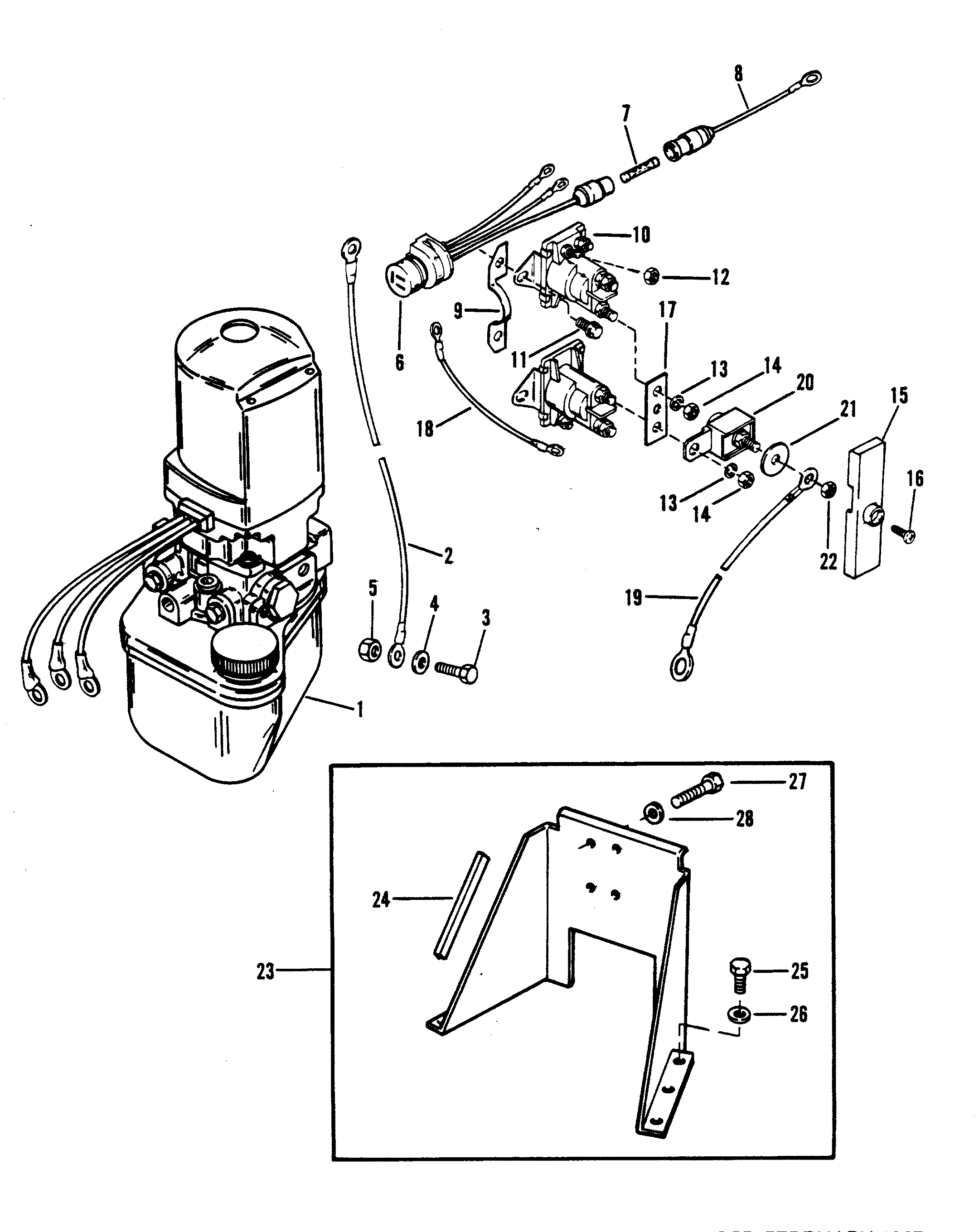 Hydraulic Pump And Bracket Oildyne Pump Plastic Reservoir