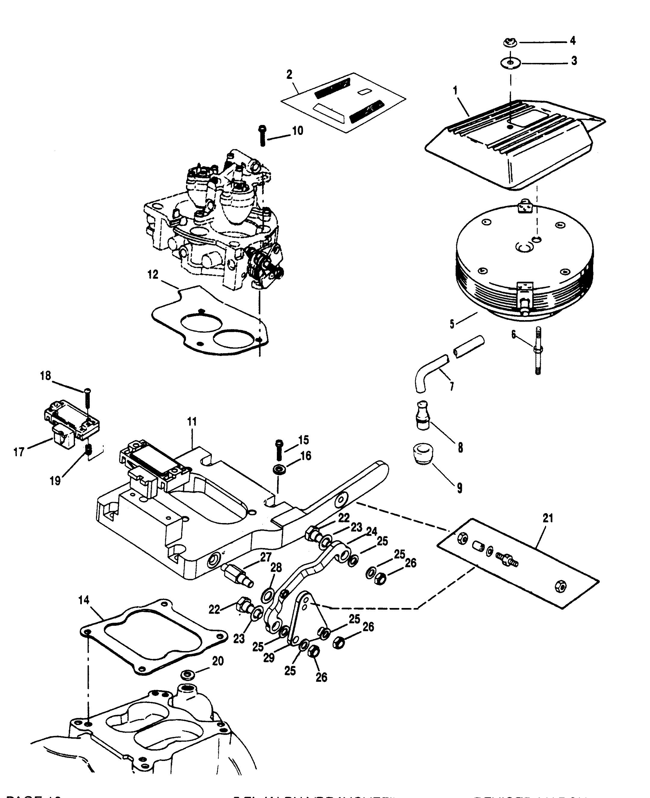 throttle linkage for mercruiser 5 7l alpha efi tbi 5 7l bravo efi tbi engine