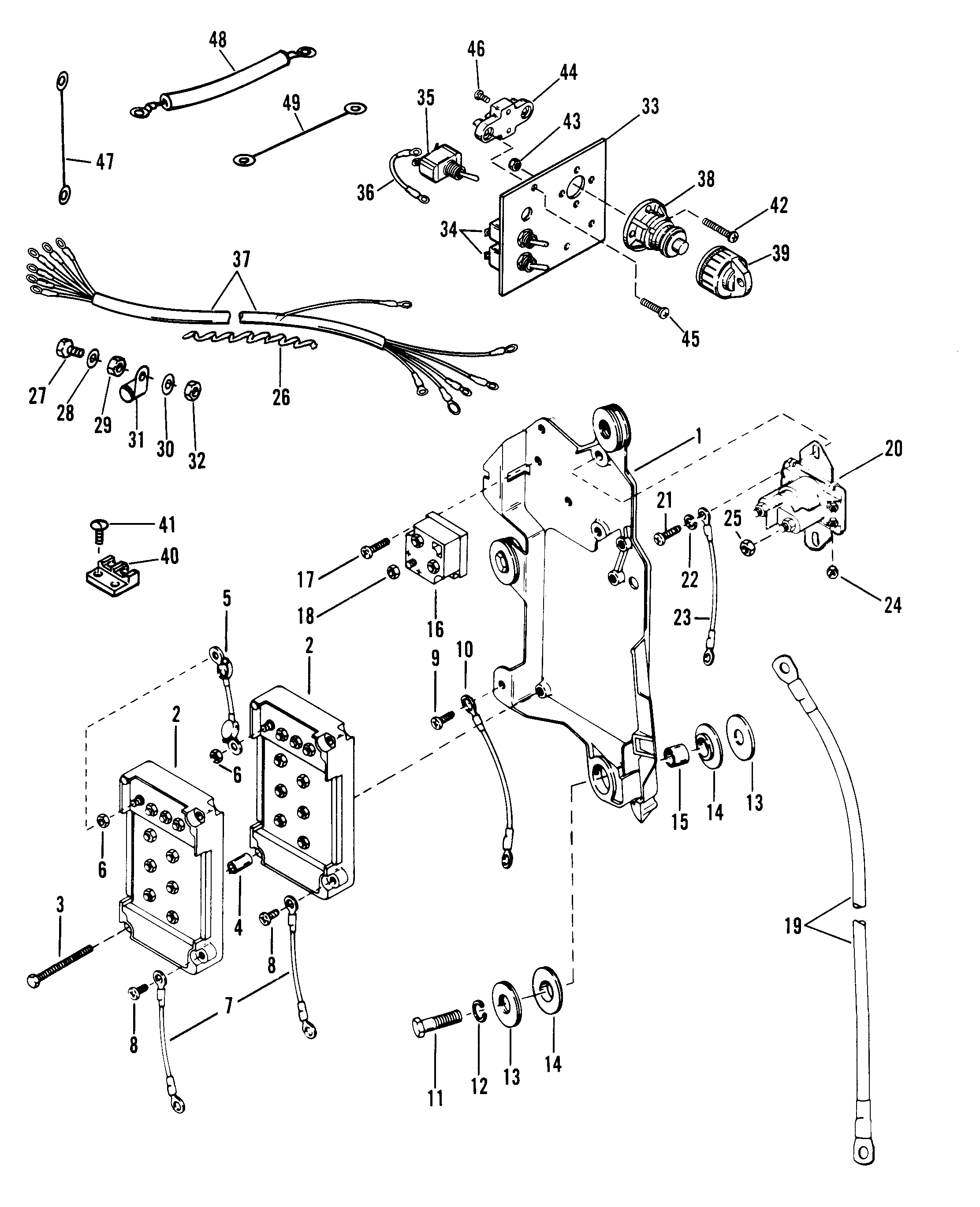 wiring harness  starter solenoid and rectifier for formula 1 carburetor
