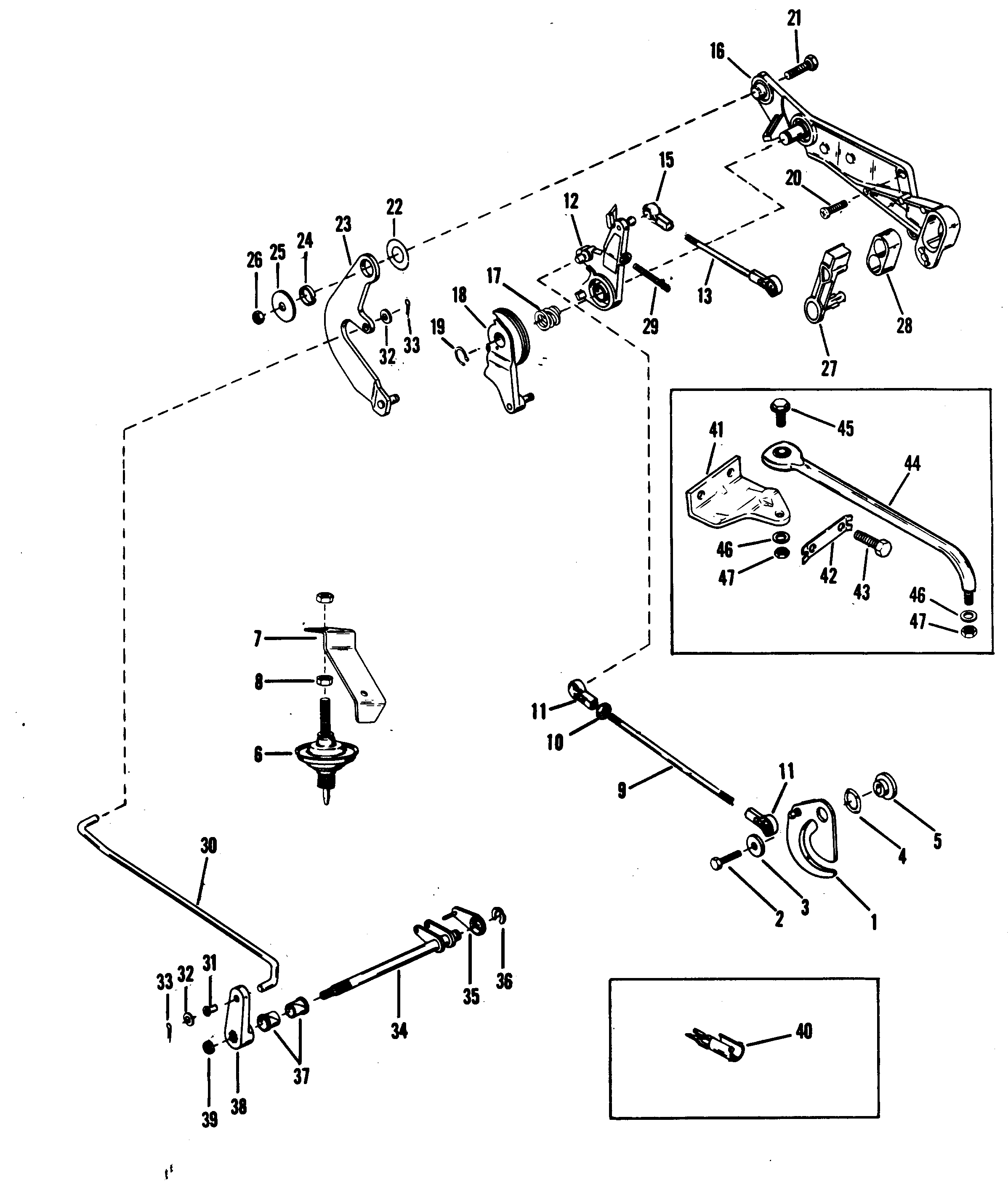Throttle And Shift Linkage Electric For Mariner Mercury