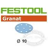 Festool RO 90 StickFix Granat discs
