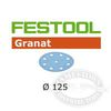 Festool StickFix Granat 5 inch Discs for RO 125 and ES 125