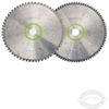 Universal and Fine Tooth Saw Blade Set For Festool KS 120 Kapex miter saw