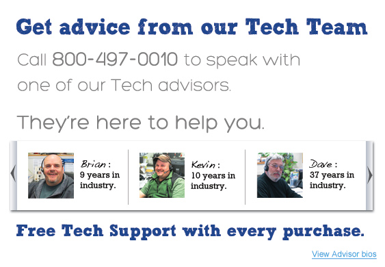 Get Advice from our Tech Team