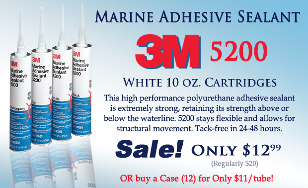 3M 5200 Sealant Only $12.99 per 10oz white tube!