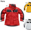 Gill Coast Jacket in mens red silver and yellow