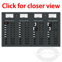Blue Sea Systems AC 3 Sources - 12 Position DC Main - 19 Position Circuit Breaker Panel