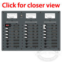 Blue Sea Systems AC Main - 6 Position and DC Main - 15 Position Circuit Breaker Panel