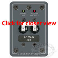 Blue Sea Systems AC Main Only Toggle Circuit Breaker Panel