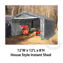 ShelterKing Instant Shed 12 ft W x 12 ft L x 8 ft H