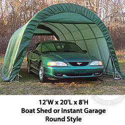 ShelterKing Boat Shed or Instant Garage Round Style 12W x 20L x 8H