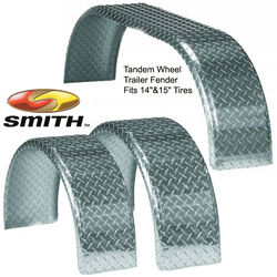 CE Smith Round Aluminum Diamond Tread Trailer Fenders
