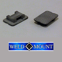 Weld Mount Black Nylon Wire Tie Mounts