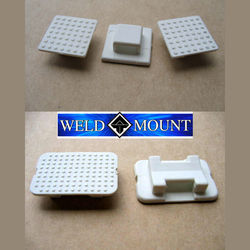 Weld Mount White Nylon Wire Tie Mounts