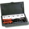 hand riveter with 200 assorted rivets, hand riveting kit