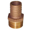 Groco Pipe-to-Hose Straight - Standard Flow - Bronze, NPT